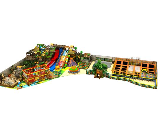 L-shape large indoor playground equipment for South Africa